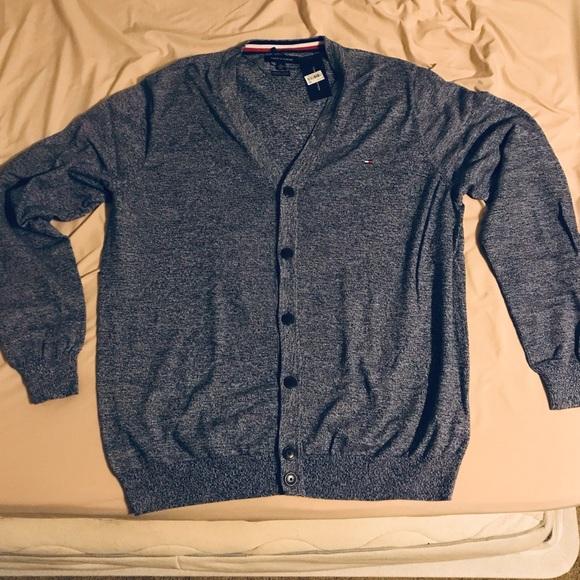 Tommy Hilfiger Other - Bluish gray blend tommy hilfiger cardigan XXL